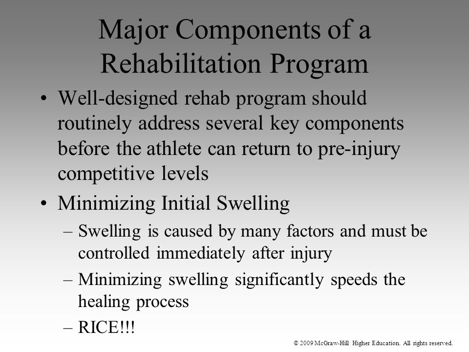 Major Components of a Rehabilitation Program