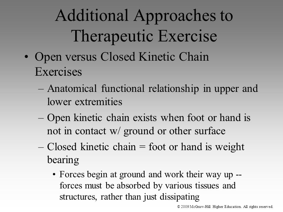 Additional Approaches to Therapeutic Exercise