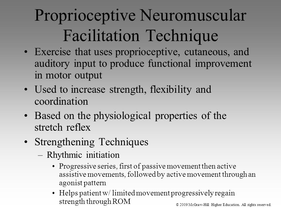 Proprioceptive Neuromuscular Facilitation Technique