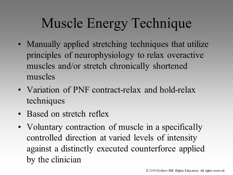 Muscle Energy Technique