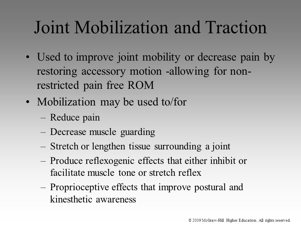 Joint Mobilization and Traction