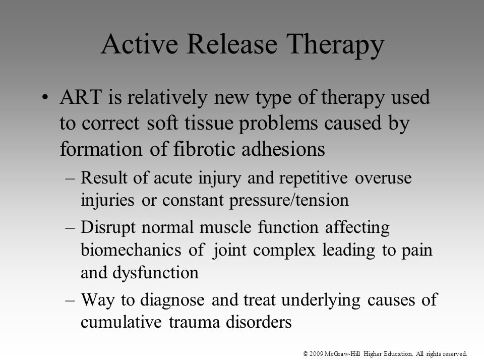 Active Release Therapy