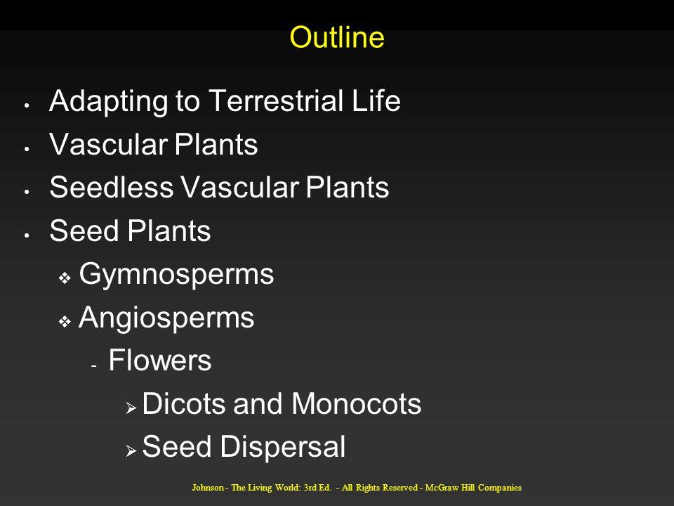 Adapting to Terrestrial Life Vascular Plants Seedless Vascular Plants