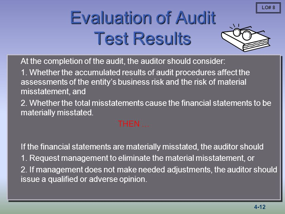 Evaluation of Audit Test Results