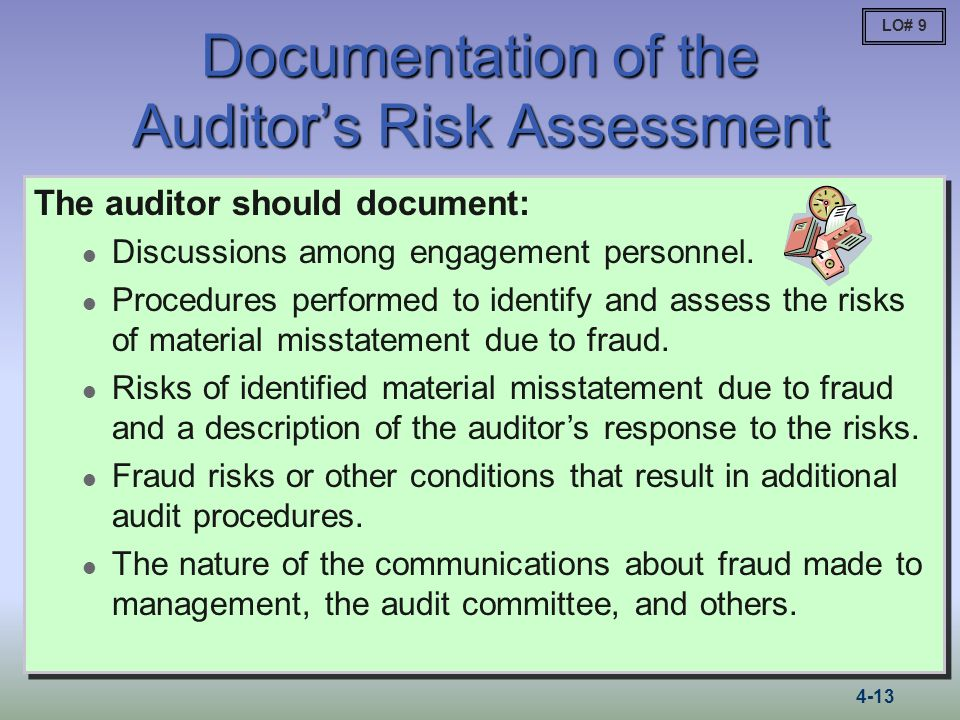 Documentation of the Auditor's Risk Assessment