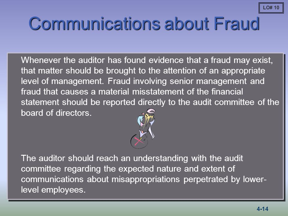 Communications about Fraud