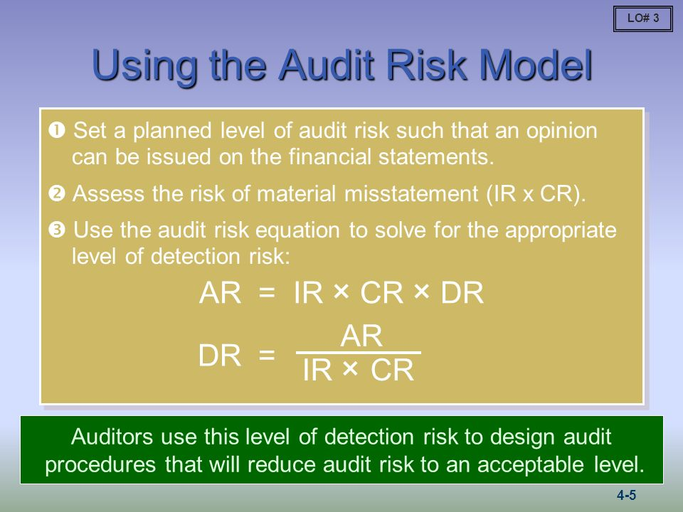 Using the Audit Risk Model