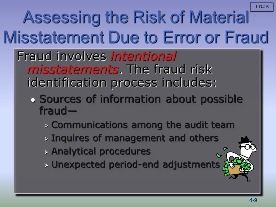Assessing the Risk of Material Misstatement Due to Error or Fraud