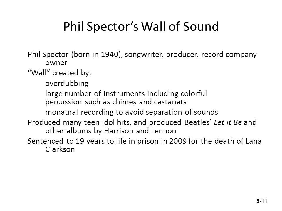 Phil Spector's Wall of Sound
