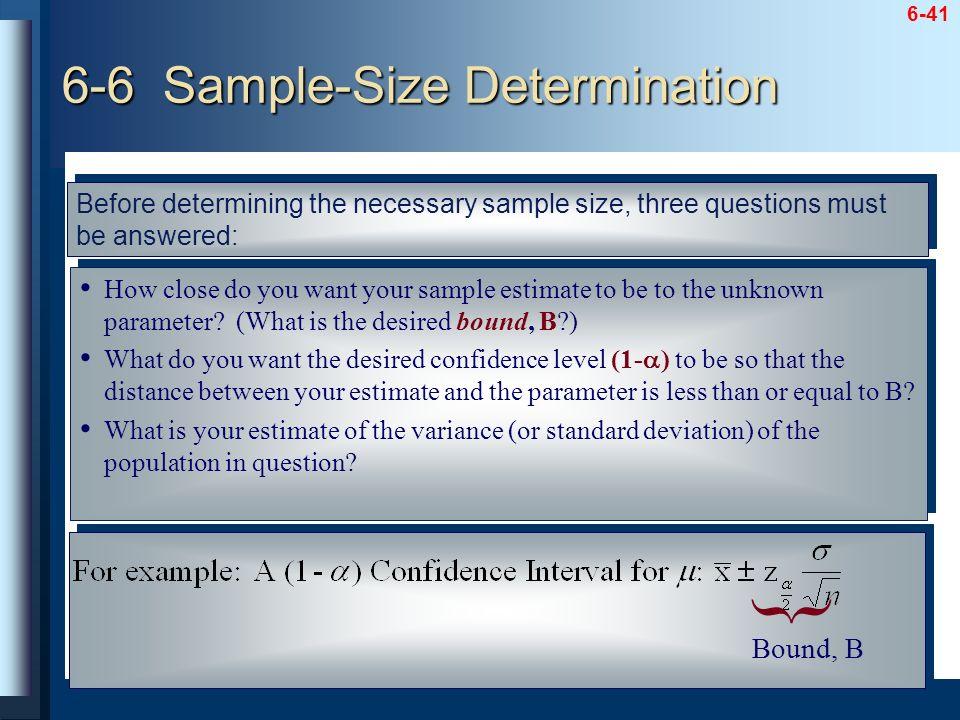 6-6 Sample-Size Determination