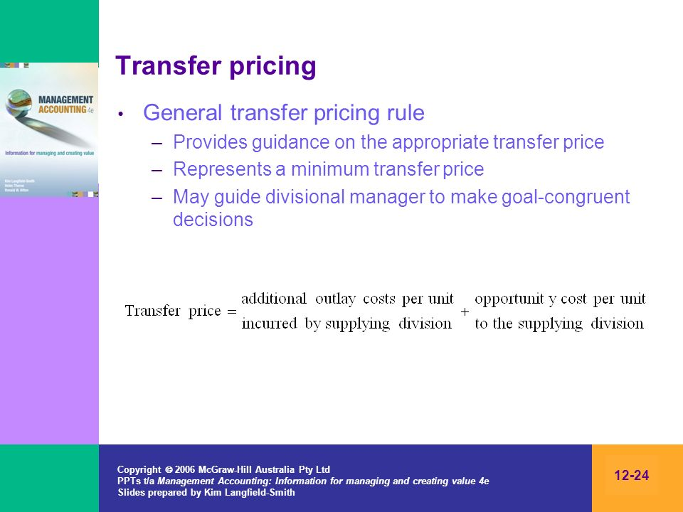 Transfer pricing General transfer pricing rule