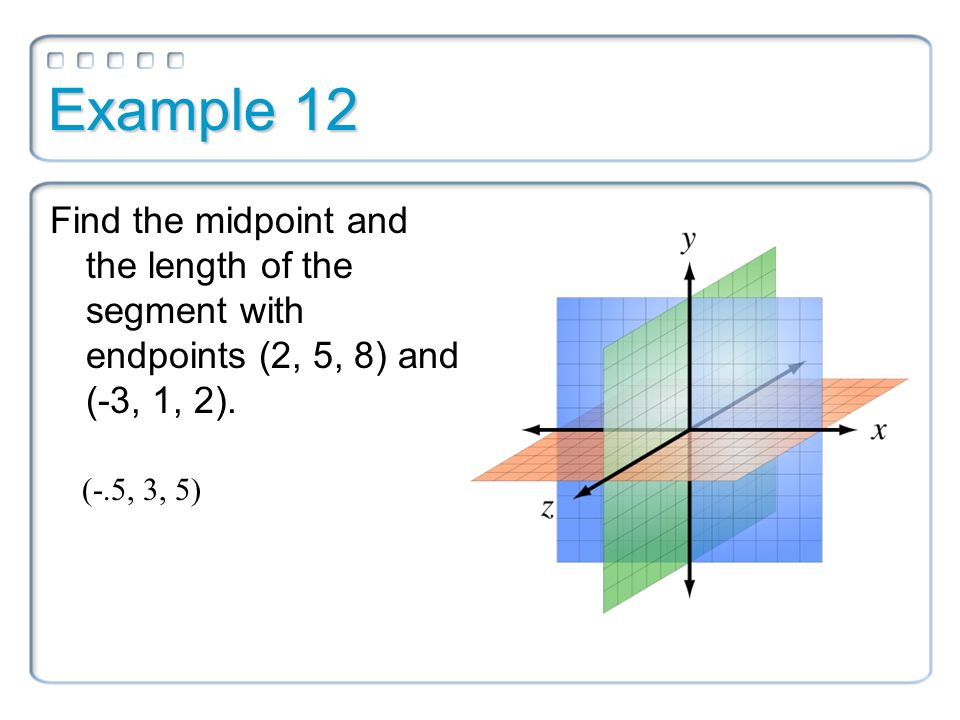 how to work out the midpoint of coordinates