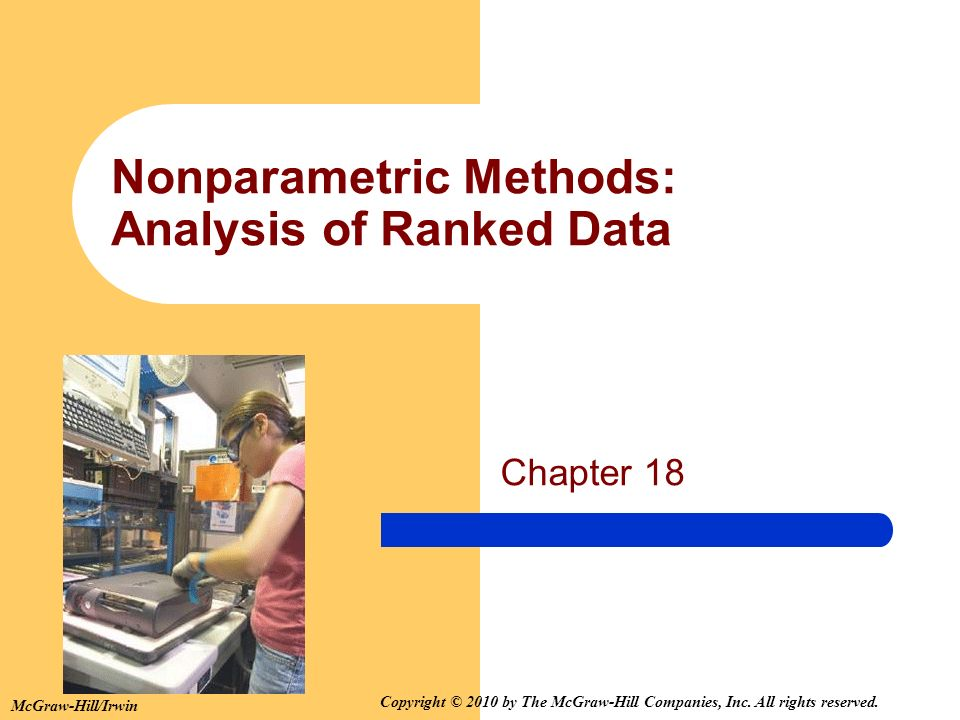 Nonparametric Methods: Analysis of Ranked Data