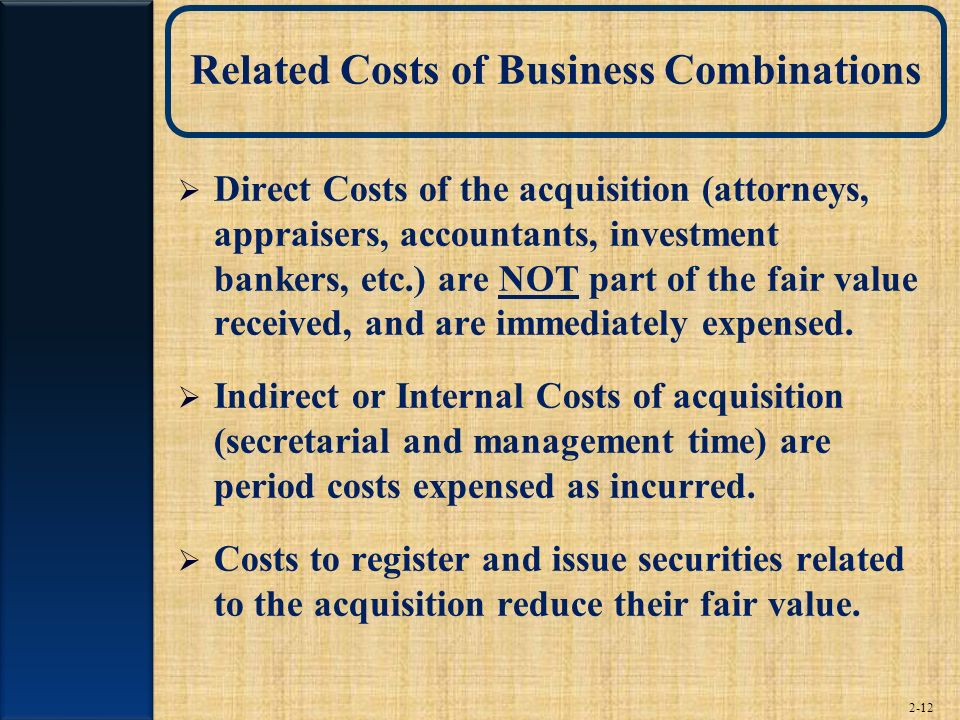 Related Costs of Business Combinations