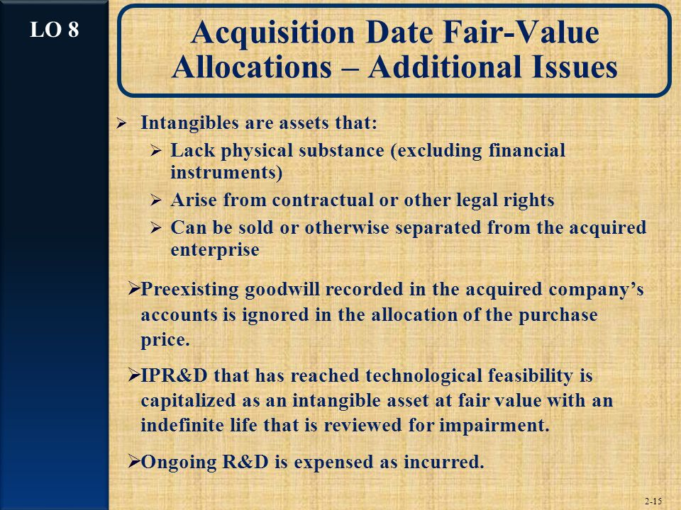Acquisition Date Fair-Value Allocations – Additional Issues