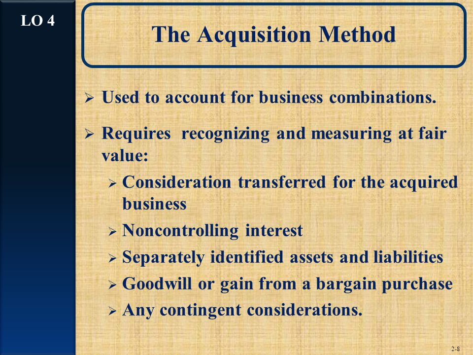The Acquisition Method