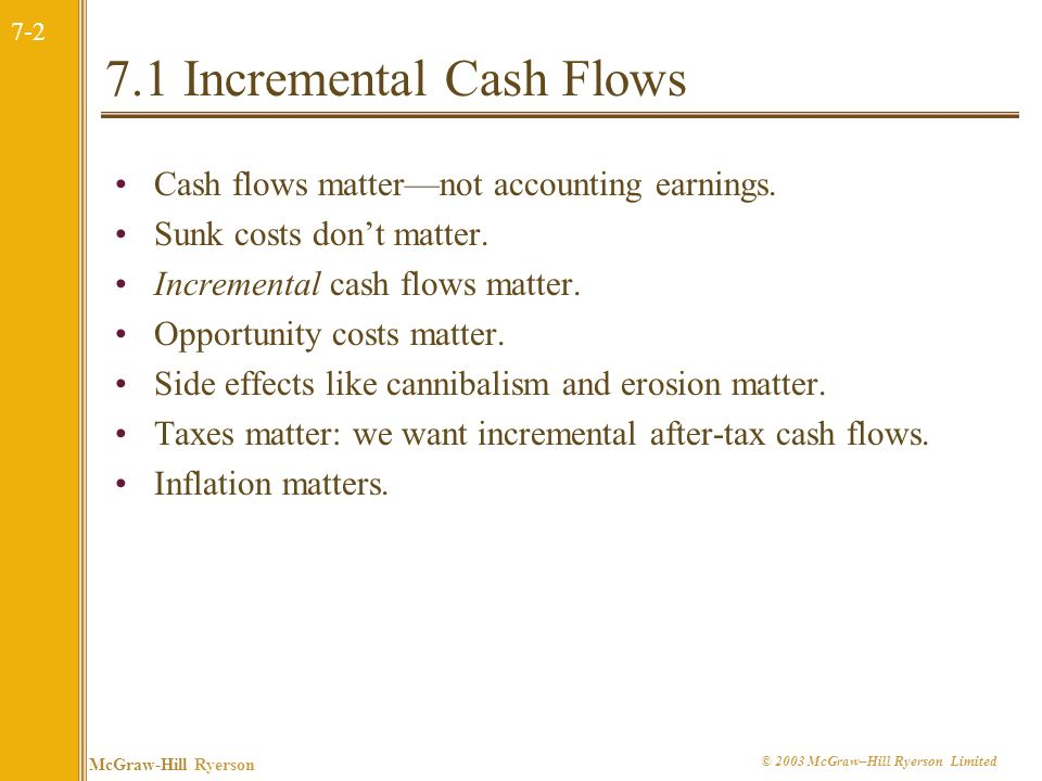 7.1 Incremental Cash Flows