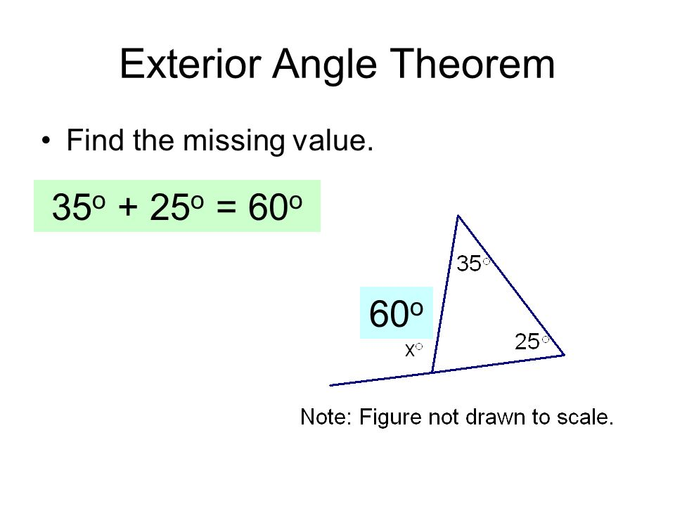 Final exam key concepts ppt video online download for Exterior angle theorem