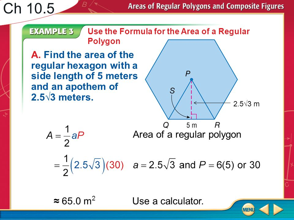 Ch 10 5 Find The Area Of The Figure Round To The Nearest