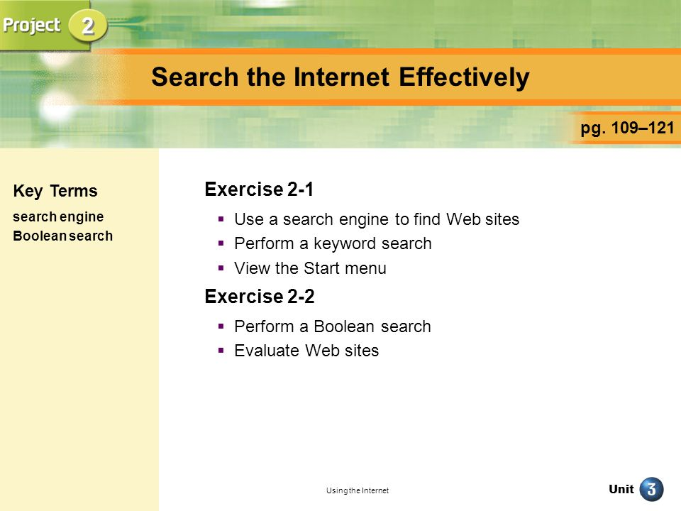Search the Internet Effectively