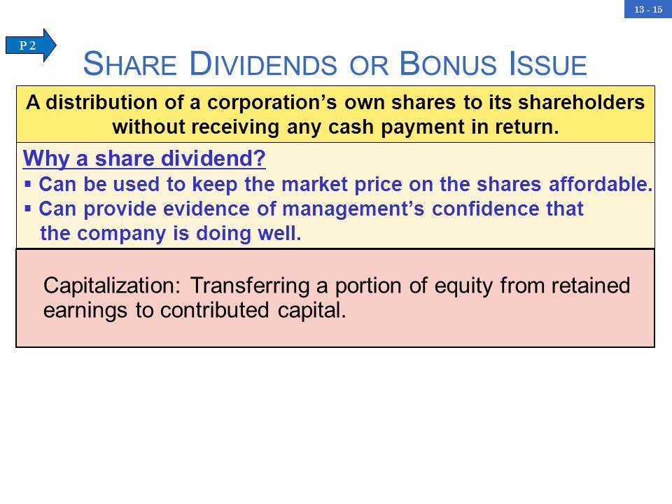 Share Dividends or Bonus Issue