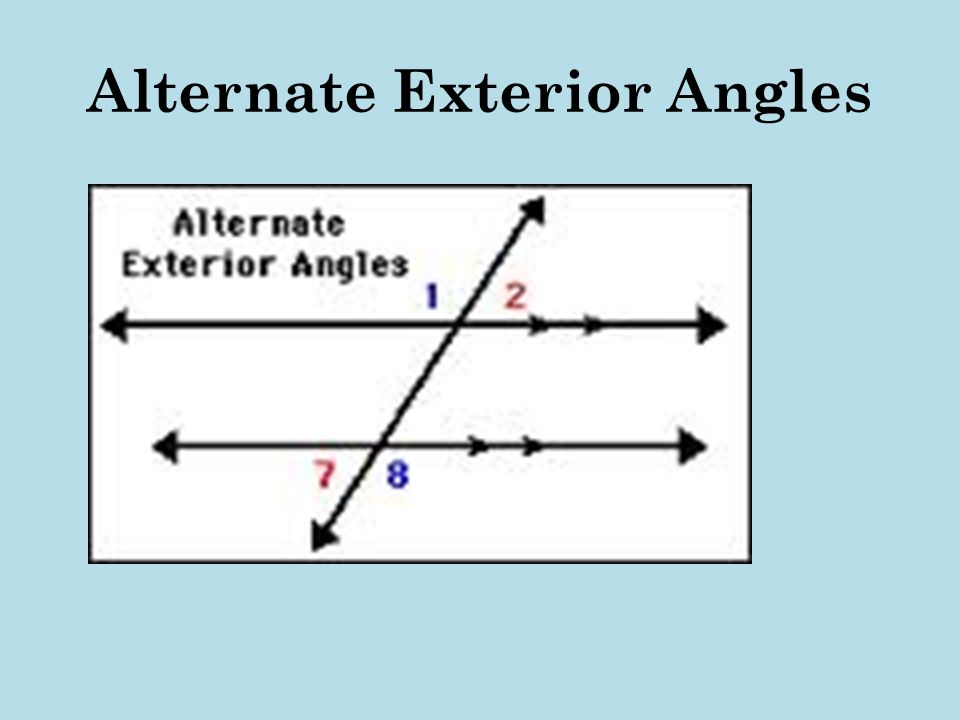 Properties of plane figures ppt video online download for What are alternate exterior angles