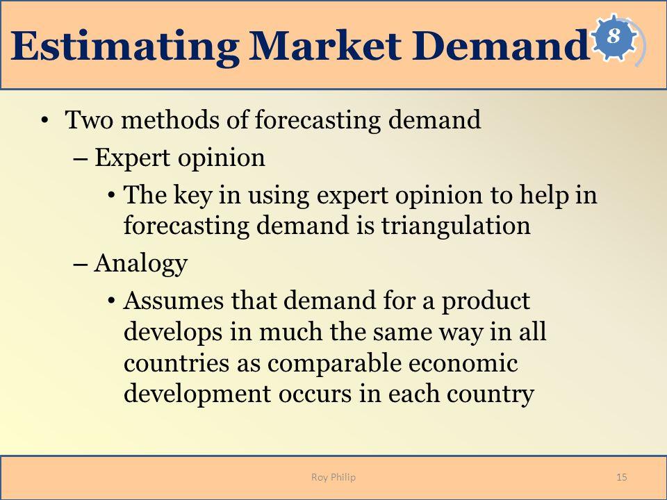 Estimating Market Demand