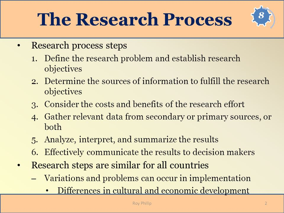 The Research Process Research process steps