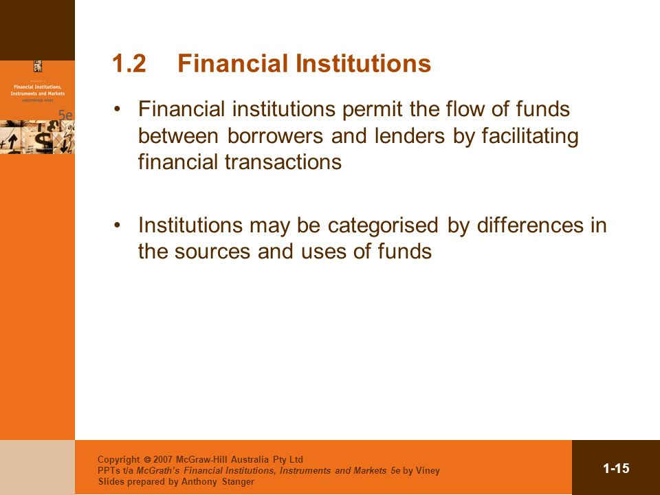 1.2 Financial Institutions
