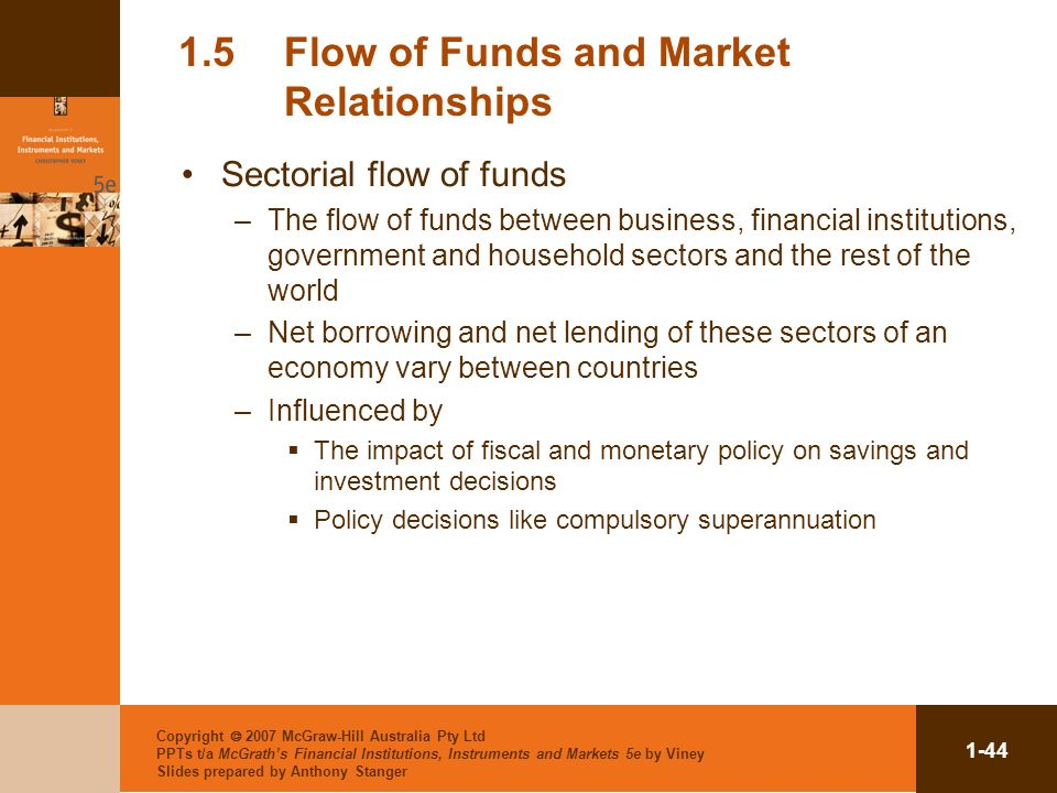 1.5 Flow of Funds and Market Relationships