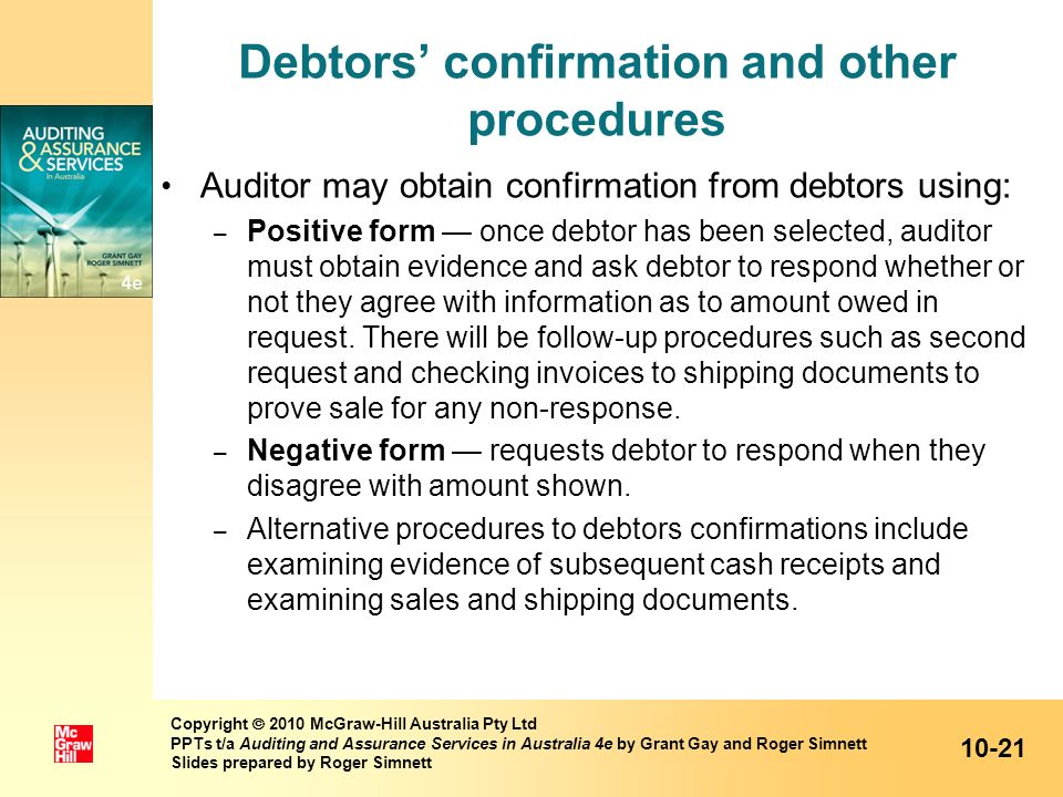 Debtors' confirmation and other procedures