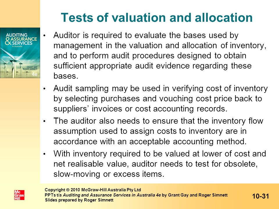 Tests of valuation and allocation