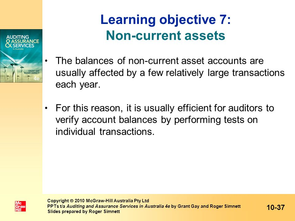 Learning objective 7: Non-current assets