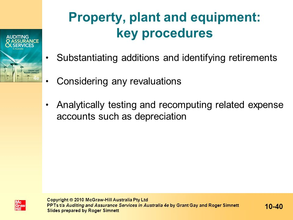 Property, plant and equipment: key procedures