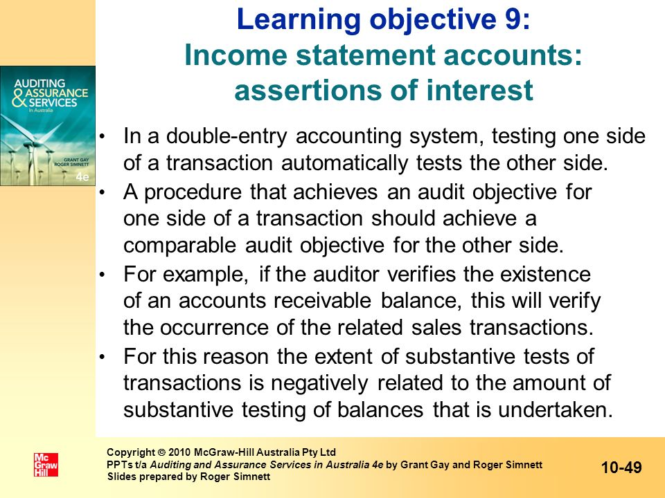 Learning objective 9: Income statement accounts: assertions of interest