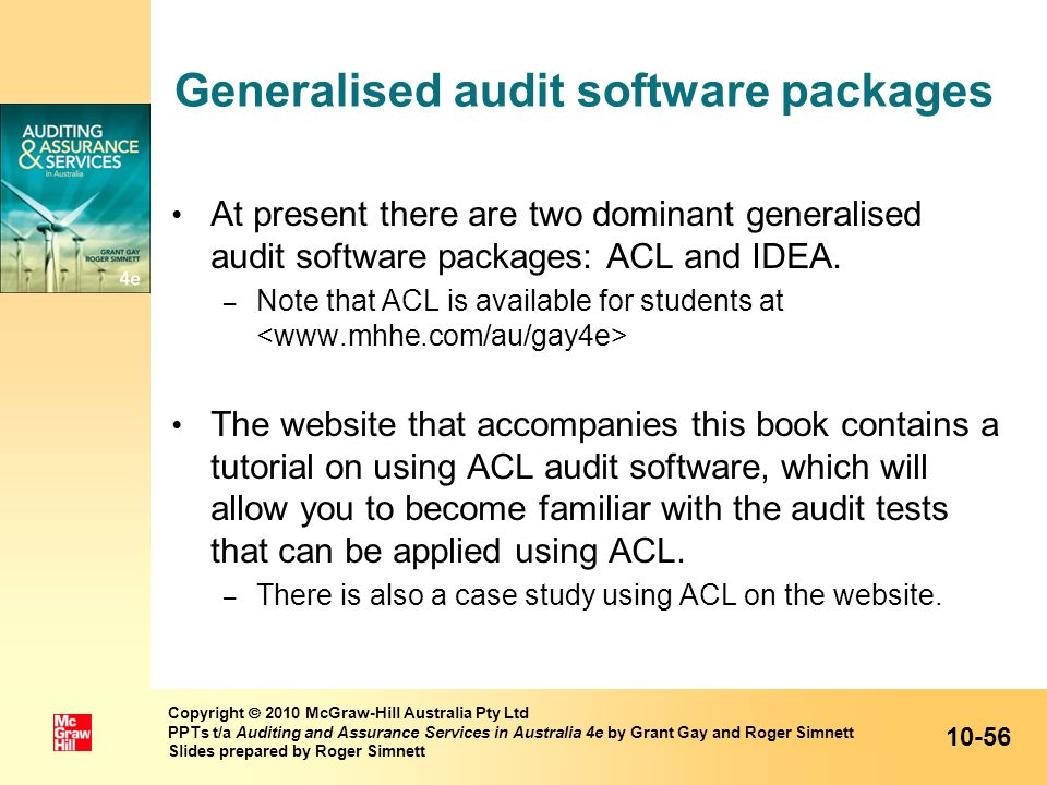 Generalised audit software packages