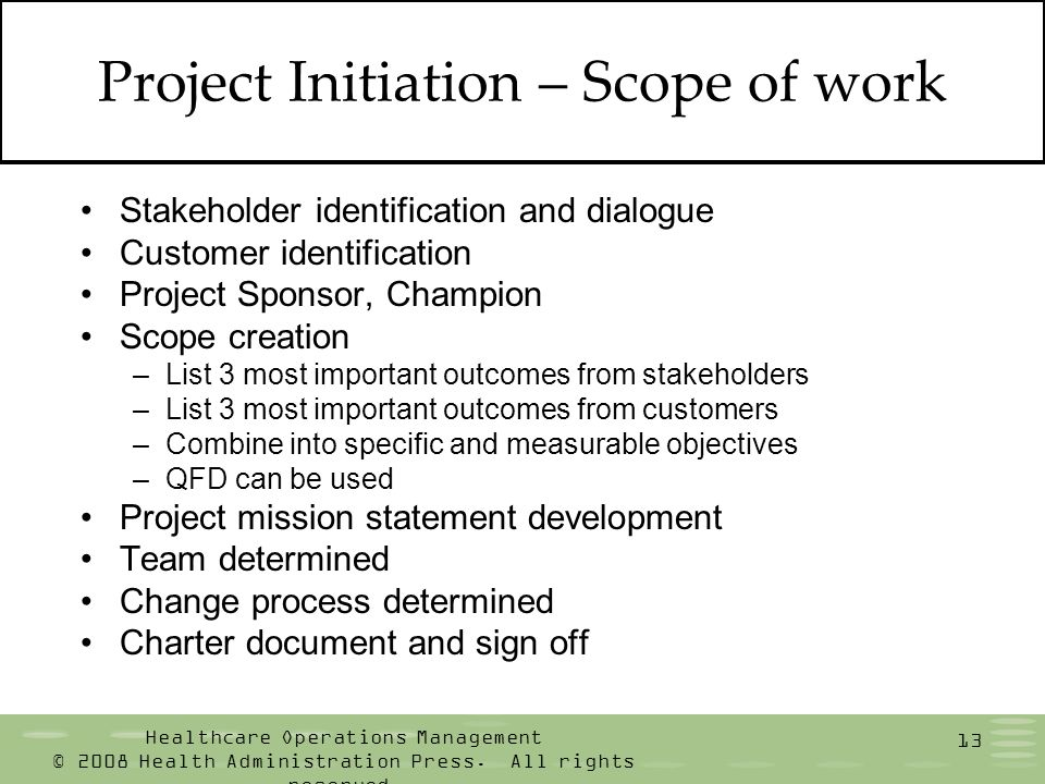 Healthcare operations management ppt download - Project management office mission statement ...
