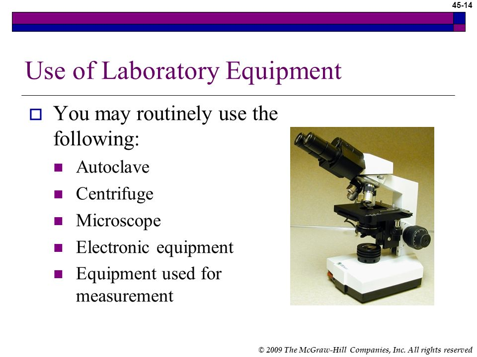 Use of Laboratory Equipment