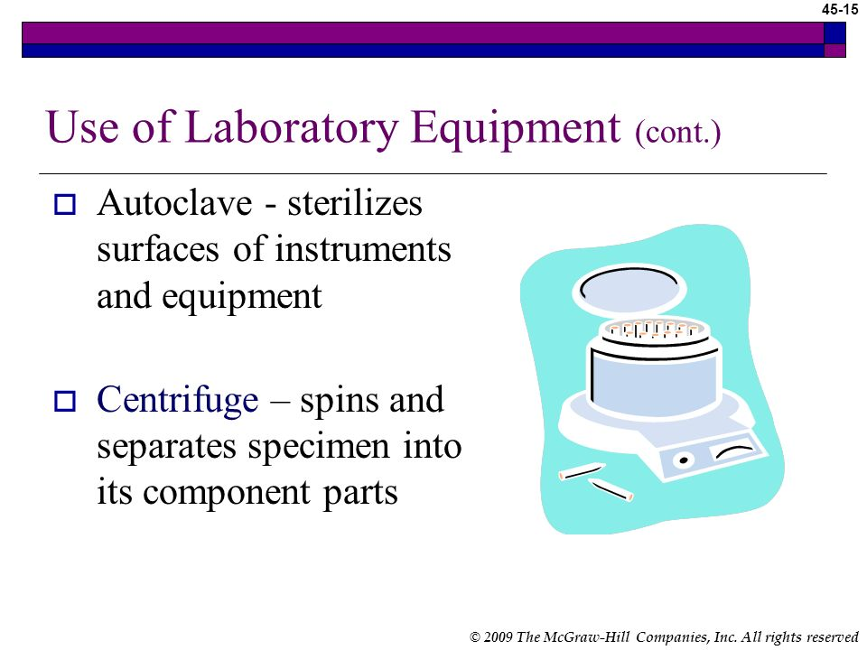 Use of Laboratory Equipment (cont.)