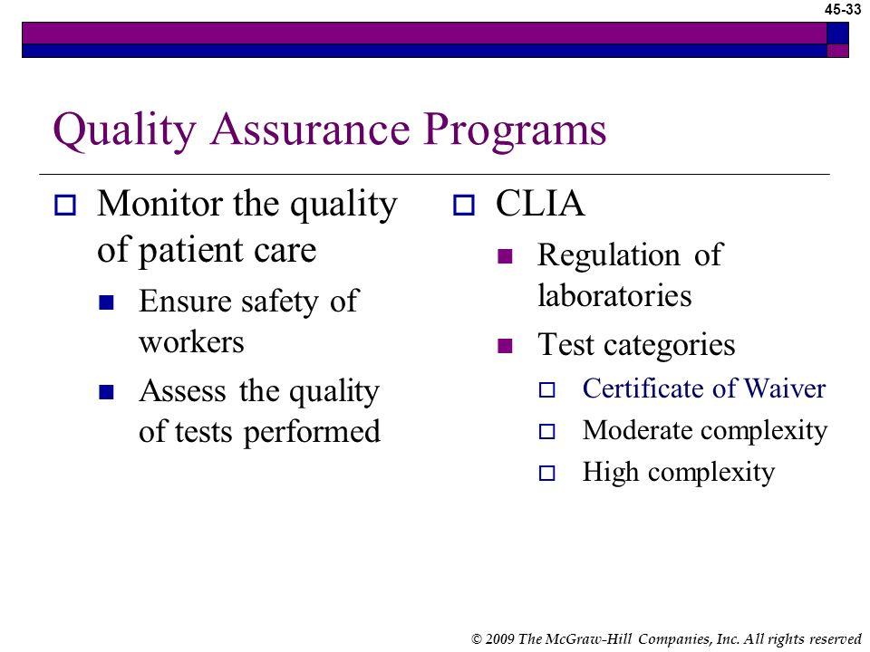 Quality Assurance Programs