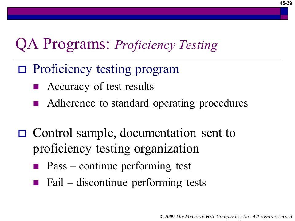 QA Programs: Proficiency Testing