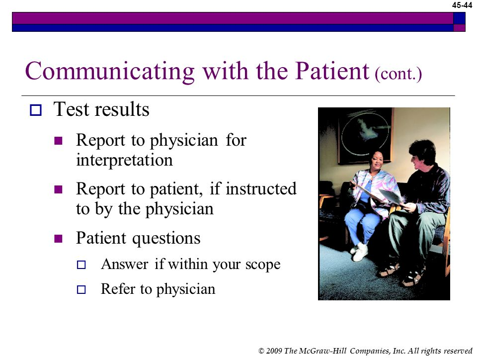 Communicating with the Patient (cont.)