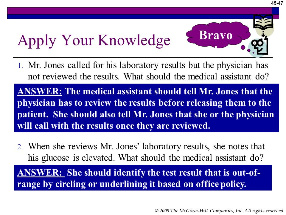 Apply Your Knowledge Bravo!