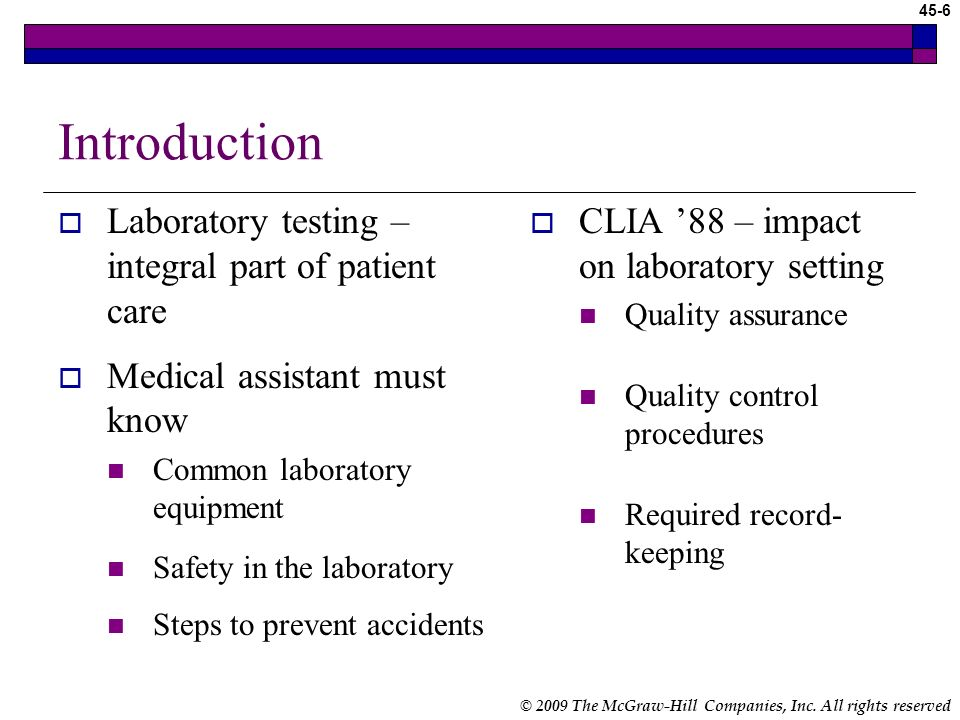 Introduction Laboratory testing – integral part of patient care
