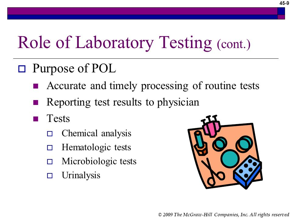Role of Laboratory Testing (cont.)