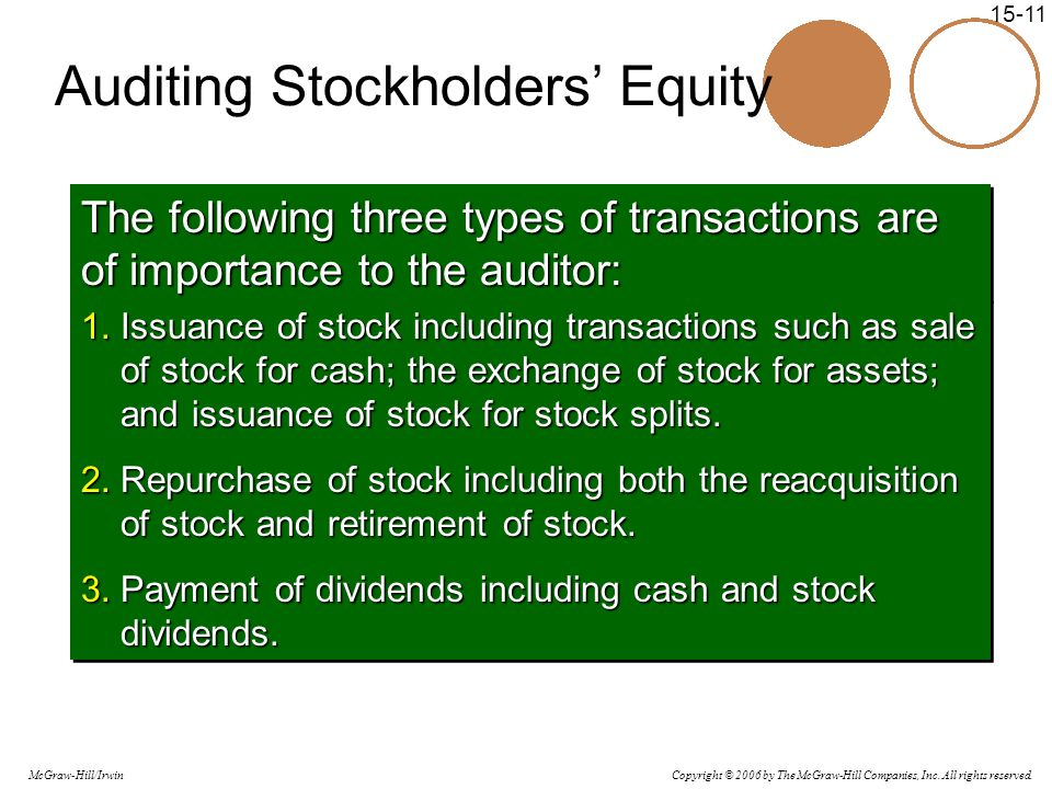 Auditing Stockholders' Equity