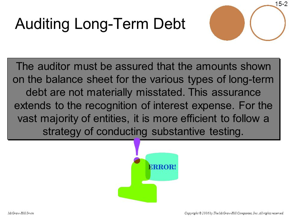 Auditing Long-Term Debt
