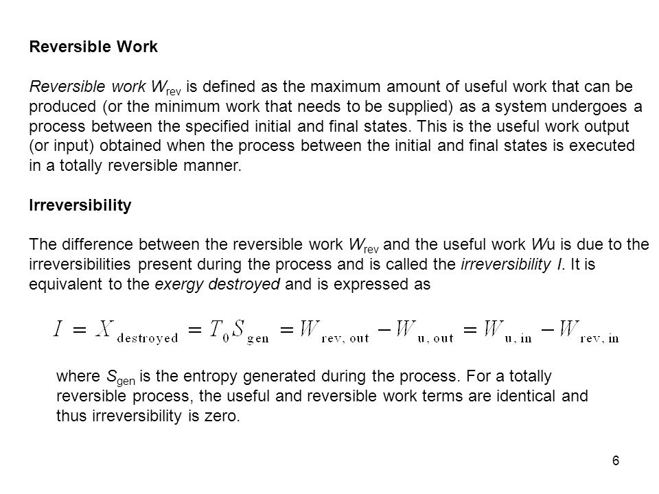 Reversible Work