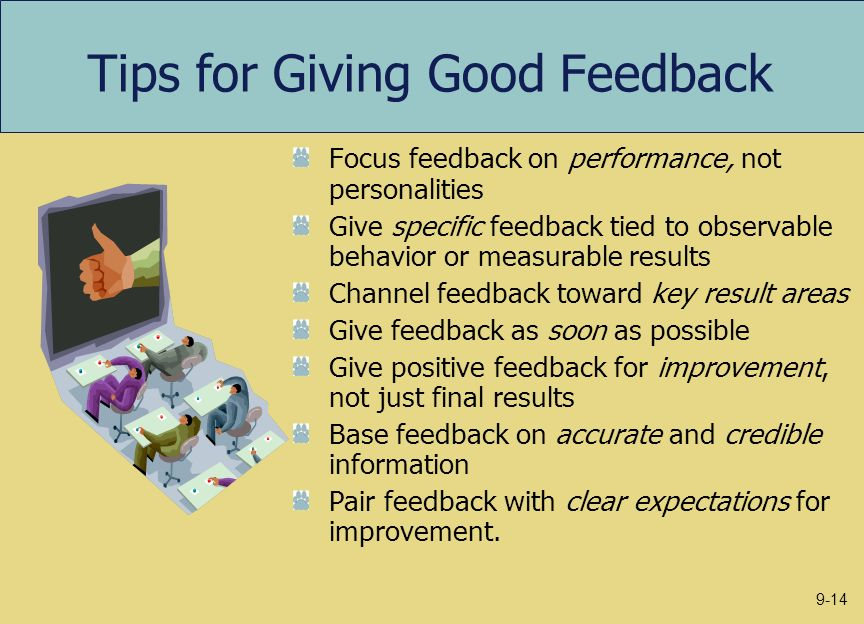 Tips for Giving Good Feedback