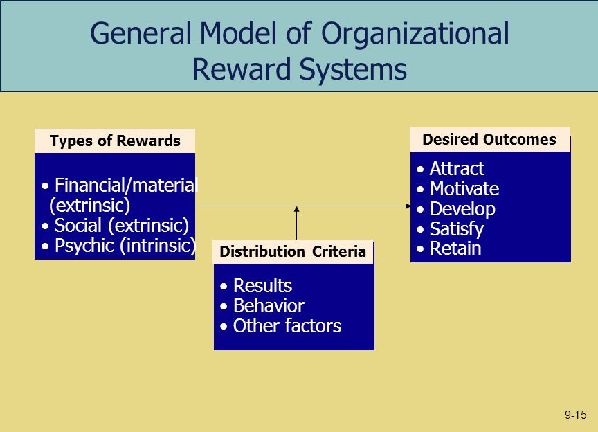 which kinds of reward system are What types of rewards would motivate workers in an organization by julie davoren updated june 29, 2018  core characteristics of a robust reward system include both intrinsic and extrinsic.